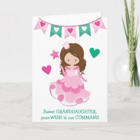 Sweet Granddaughter Princess Valentine or Birthday Holiday