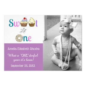 Sweet Lil One Baby's First Birthday Announcement