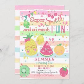 Sweet One 1st Birthday Invitation