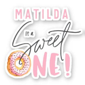 Sweet one 1st birthday sticker