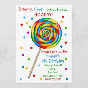 Sweet Shop Lollipop Birthday