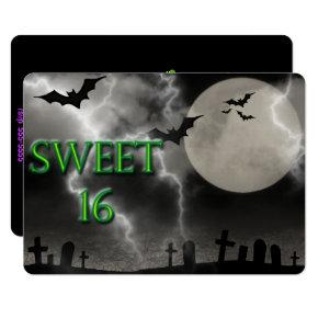 Sweet Sixteen, Haunted Halloween, Invitations