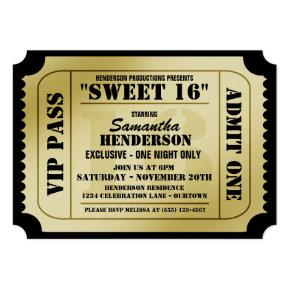 Sweet Sixteen VIP Ticket Style Party