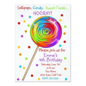 Sweetie Pop Lollipop Birthday