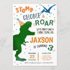 T Rex Dinosaur Birthday Party