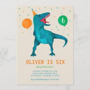 T-Rex Dinosaur Party Animal Birthday Party Invitation