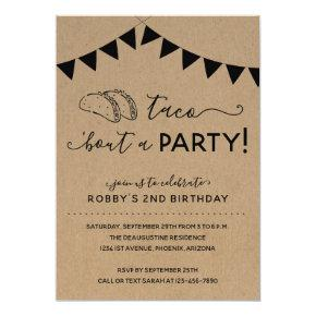 Taco 'Bout a Party Birthday Invitation