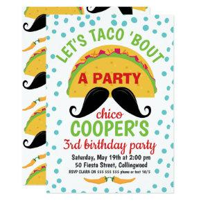Taco ''bout A Party Birthday Invitation Boy