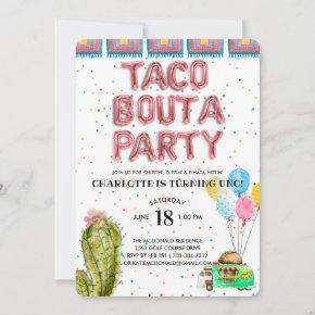 Taco Bout A Party | First Birthday Invitation
