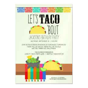 Taco 'Bout Birthday Party Magnetic Invitation