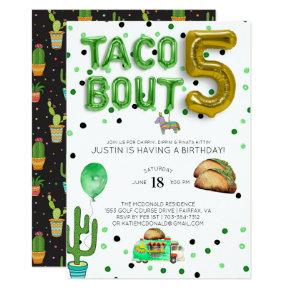 Taco Bout Five | Fifth Birthday Invitation