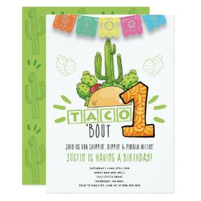 Taco Bout One | First Birthday Fiesta Invitation