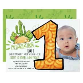 Taco Bout One | First Birthday Fiesta Photo Invitation