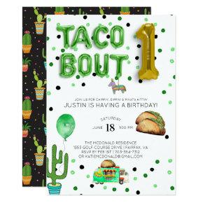 Taco Bout One | First Birthday Invitation