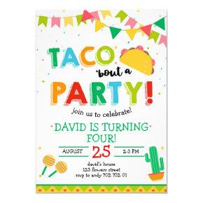 Taco 'bout the Party Boy Fiesta Birthday Invitation
