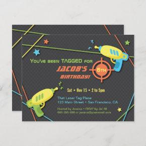 Tagged for Laser Tag Birthday Party