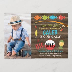 Take The Bait Big One 1st Birthday Invitation