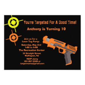 Target Laser Tag Birthday Party Invitations
