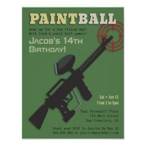 Target Paintball Birthday Party
