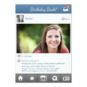 Teen Birthday Invitation Social media Invitation