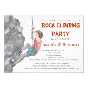 Teenage Boy Rock Climbing Birthday Invitations Candied Clouds