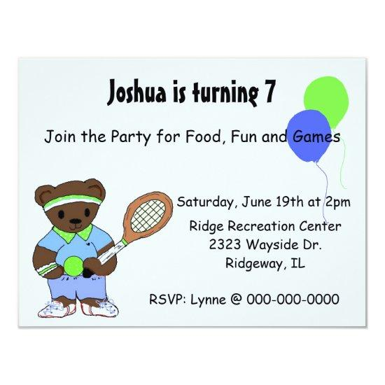 Tennis birthday party invitations candied clouds tennis birthday party invitations filmwisefo