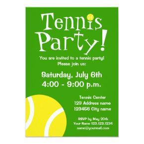 Tennis party invitations for Birthdays or BBQ