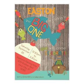 The Big One - Fishing First Birthday Invitation