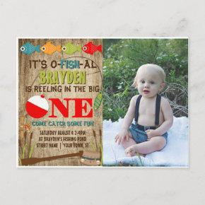 The Big One Fishing Theme Boys 1st Birthday Invitation Post