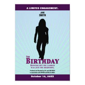 The Birthday Movie Invitation (Girl)