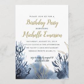 The blue Reef | Nautical Birthday Invitation
