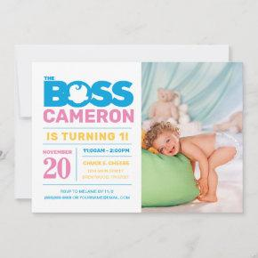 The Boss Baby | First Birthday Invitation