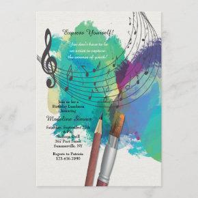 The Color of Music Invitation