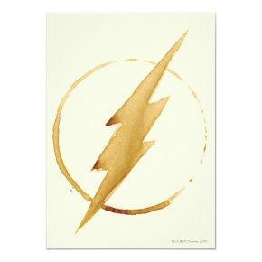 The Flash   Yellow Chest Emblem Invitation