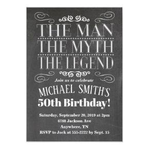 The Man Birthday Invitation