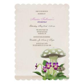 The Mushroom Garden Invitation