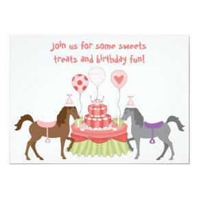 The Pretty Ponies Horse Birthday Invitations