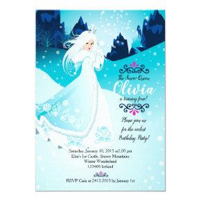 The Snow Queen Birthday Party Invitation