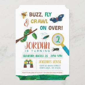 The Very Hungry Caterpillar | Bug Birthday Invitation