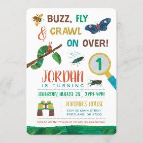 The Very Hungry Caterpillar | Bug First Birthday Invitation