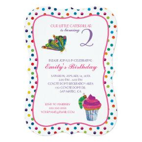 The Very Hungry Caterpillar Butterfly Birthday Invitations