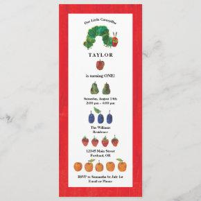 The Very Hungry Caterpillar Fruit Birthday Invitation