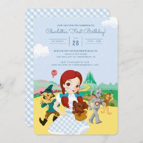 The Wizard of Oz First Birthday Invitation