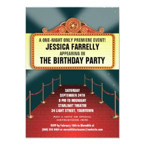 Theatre Marquee Party Invitation