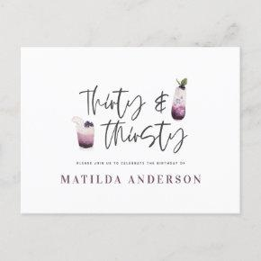 Thirty & thirsty thirtieth birthday invitation