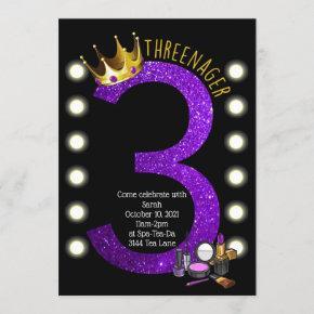 Threenager Birthday Invitation
