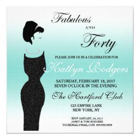 Tiara Party Fabulous at 40 40th Birthday Party Invitation