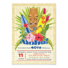 Tiki Birthday Party Invitation