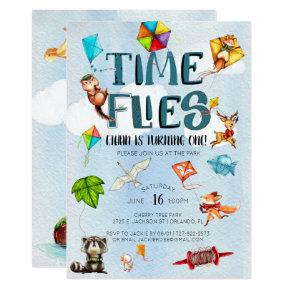 Time Flies | Kite Themed 1st Birthday Party Invitation