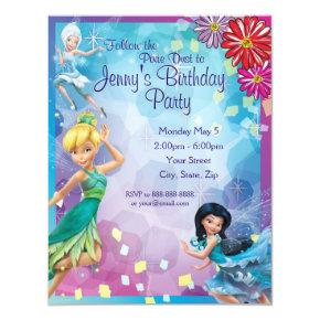 Tinker Bell Birthday Invitations